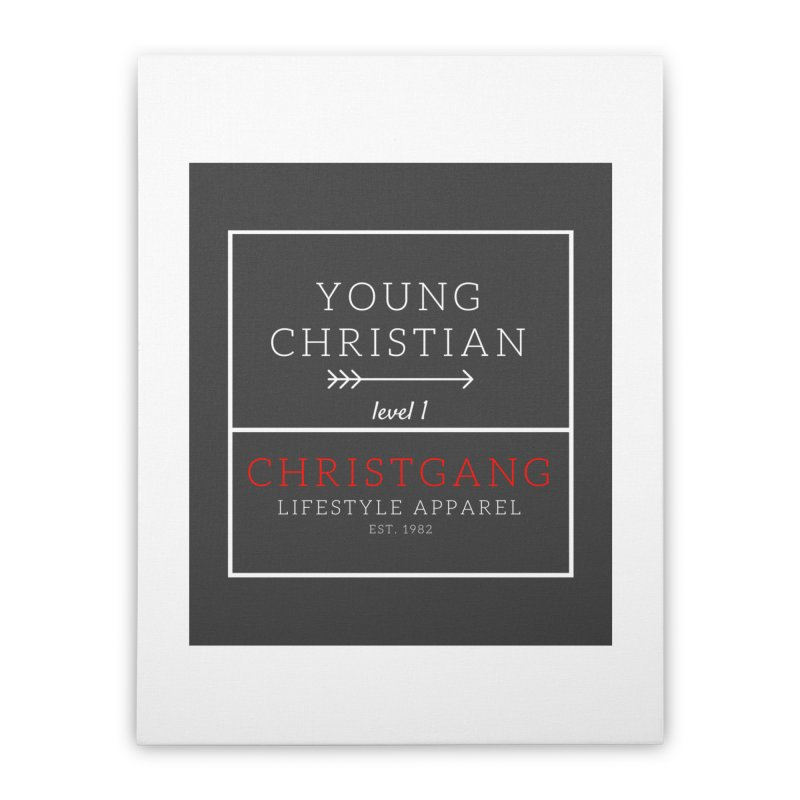 Young Christian Home Stretched Canvas by ChristGang Apparel