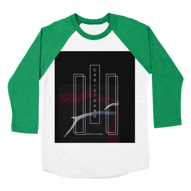 ChristGang 3 Men's Baseball Triblend Longsleeve T-Shirt by ChristGang Apparel