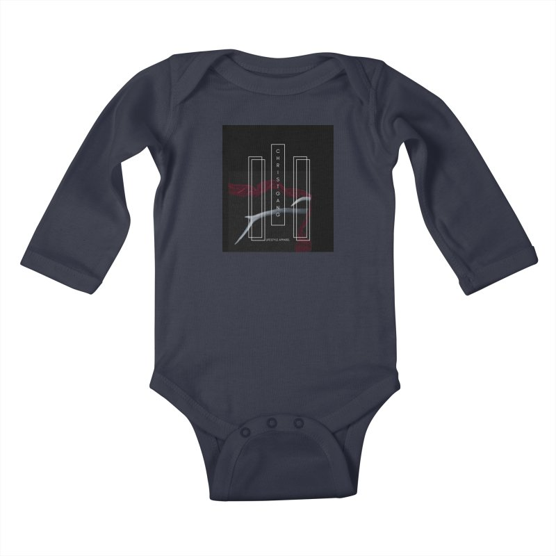 ChristGang 3 Kids Baby Longsleeve Bodysuit by ChristGang Apparel