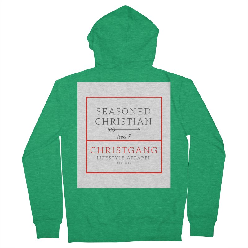 Seasoned Christian Men's French Terry Zip-Up Hoody by ChristGang Apparel