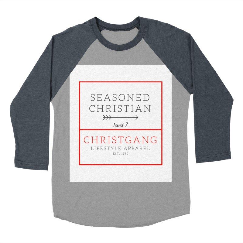 Seasoned Christian Women's Baseball Triblend Longsleeve T-Shirt by ChristGang Apparel