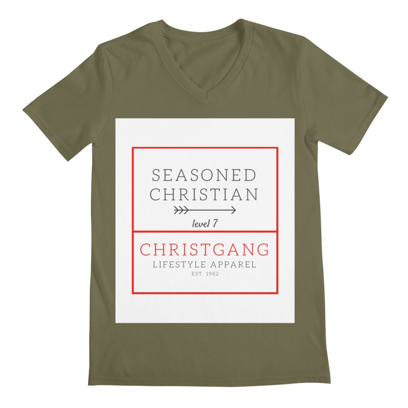 Seasoned Christian Men's V-Neck by ChristGang Apparel