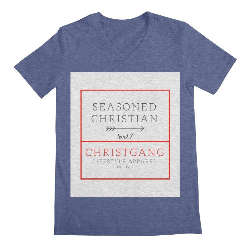 Seasoned Christian Men's Regular V-Neck by ChristGang Apparel