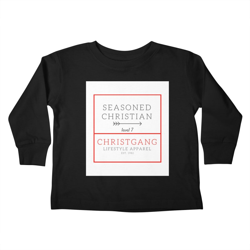 Seasoned Christian Kids Toddler Longsleeve T-Shirt by ChristGang Apparel