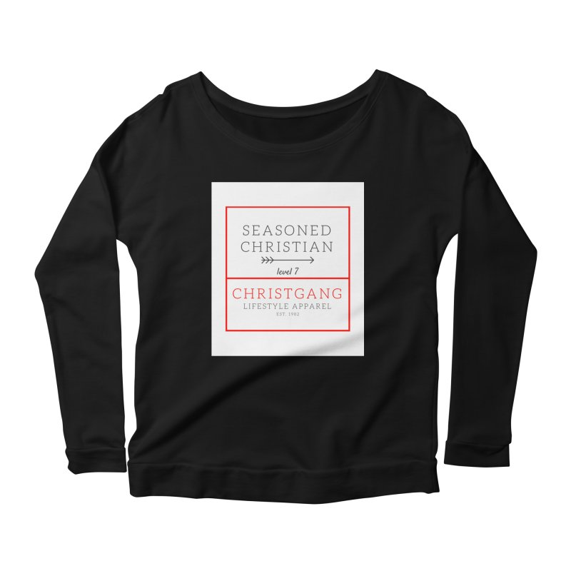 Seasoned Christian Women's Scoop Neck Longsleeve T-Shirt by ChristGang Apparel