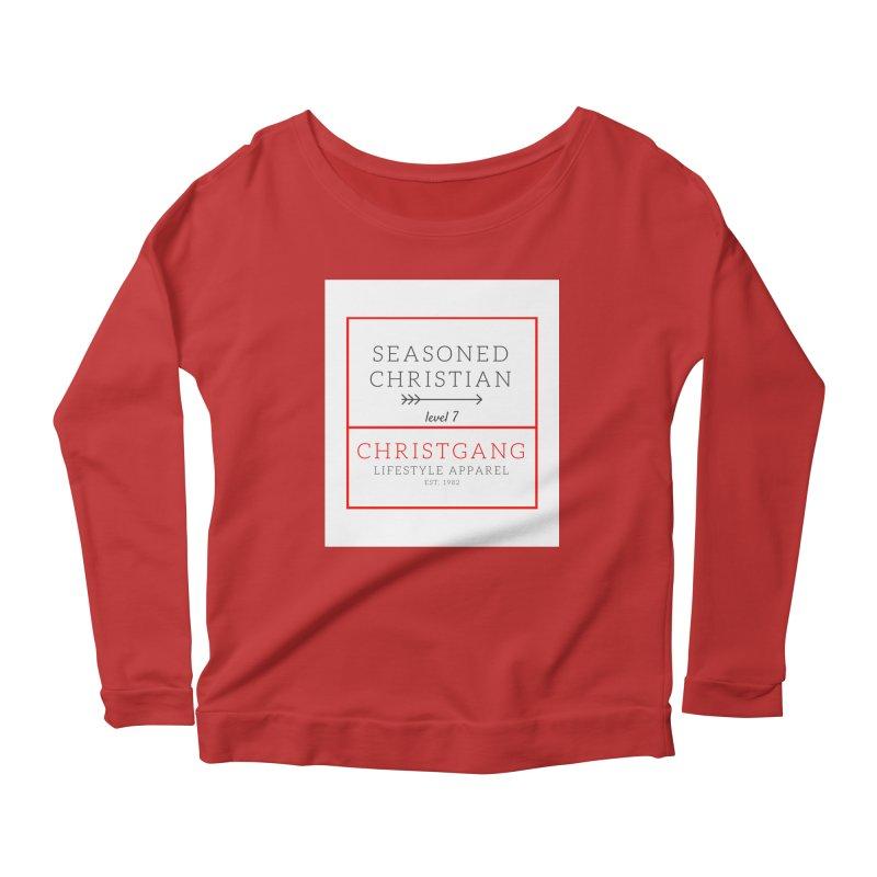 Seasoned Christian Women's Scoop Neck Longsleeve T-Shirt by ChristGang Apparel