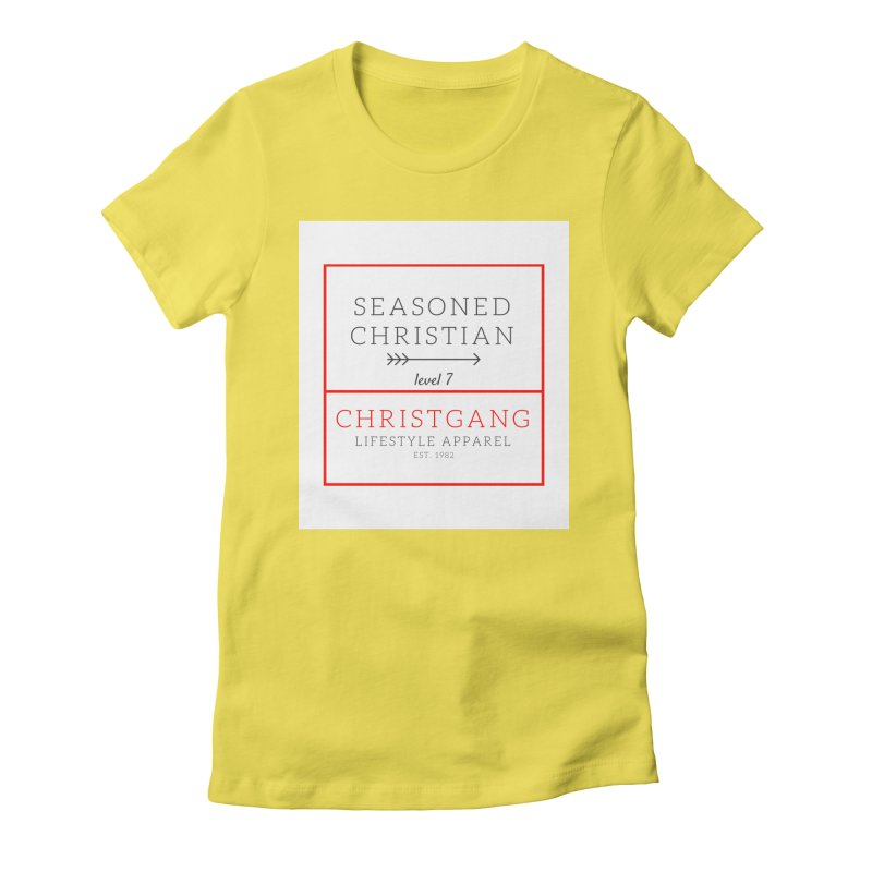 Seasoned Christian Women's Fitted T-Shirt by ChristGang Apparel