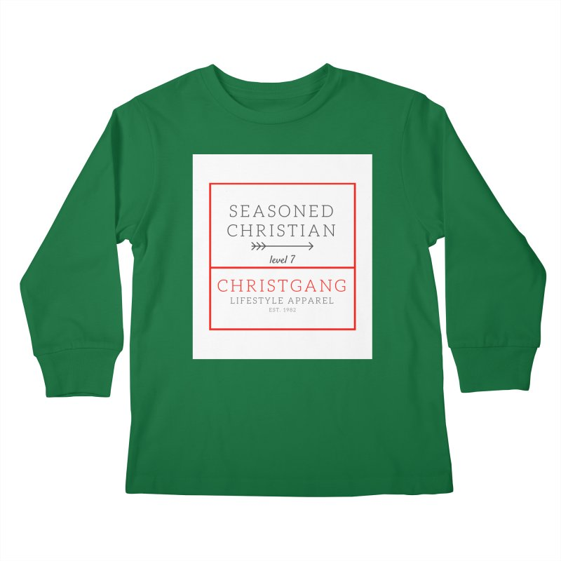 Seasoned Christian Kids Longsleeve T-Shirt by ChristGang Apparel