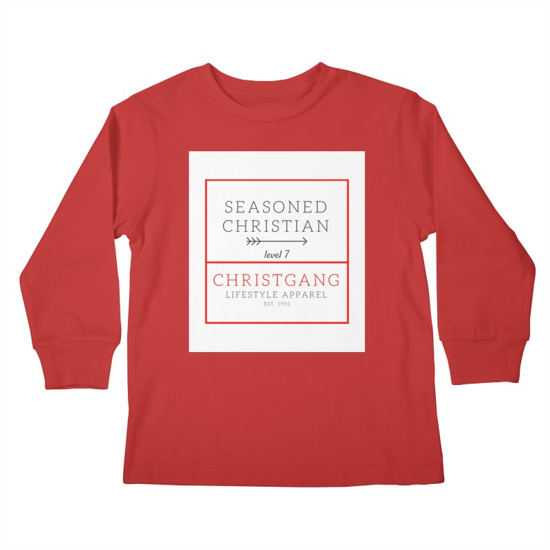 Seasoned Christian Kids Longsleeve T-Shirt by ChristGang Apparel