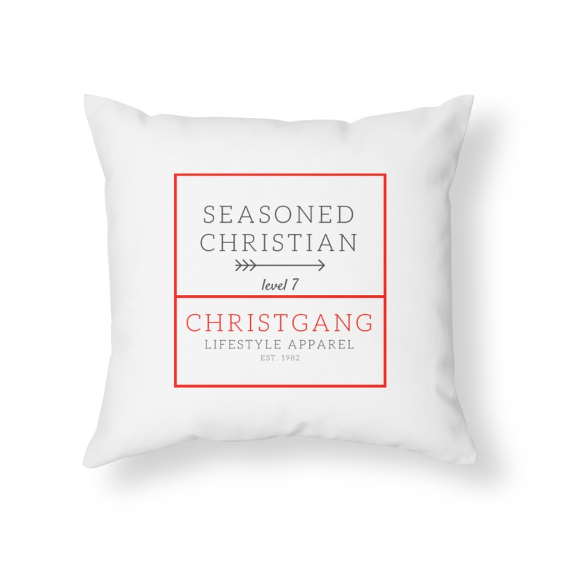 Seasoned Christian Home Throw Pillow by ChristGang Apparel