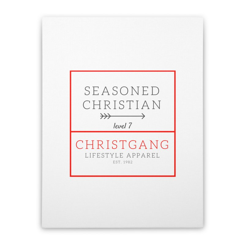 Seasoned Christian Home Stretched Canvas by ChristGang Apparel