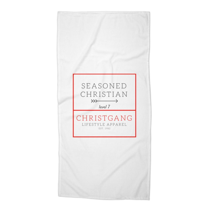 Seasoned Christian Accessories Beach Towel by ChristGang Apparel
