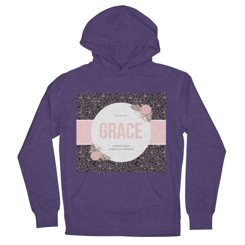 Saved By Grace Women's French Terry Pullover Hoody by ChristGang Apparel