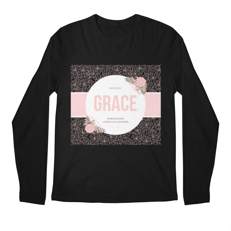 Saved By Grace Men's Regular Longsleeve T-Shirt by ChristGang Apparel
