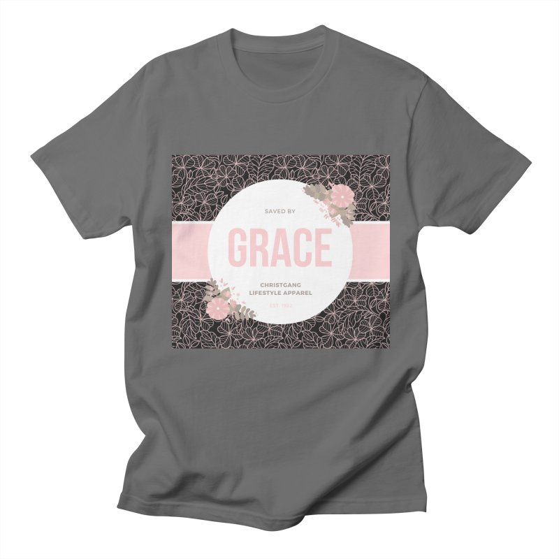 Saved By Grace Men's T-Shirt by ChristGang Apparel
