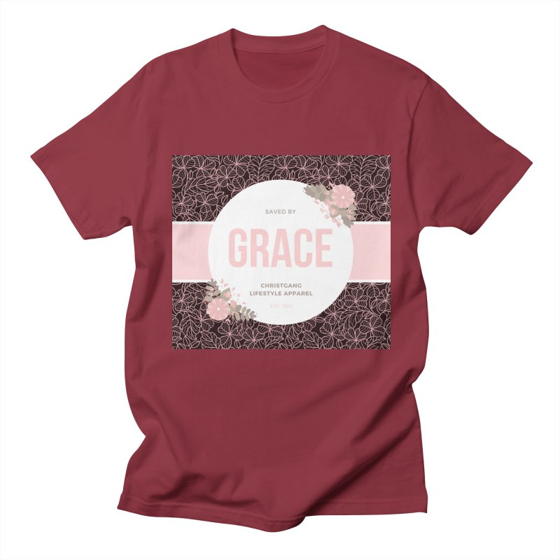 Saved By Grace Women's Regular Unisex T-Shirt by ChristGang Apparel