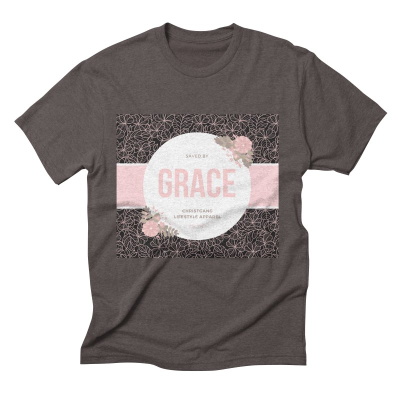 Saved By Grace Men's Triblend T-Shirt by ChristGang Apparel