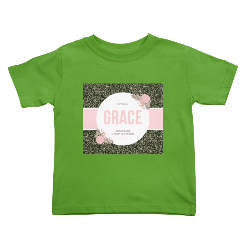 Saved By Grace Kids Toddler T-Shirt by ChristGang Apparel