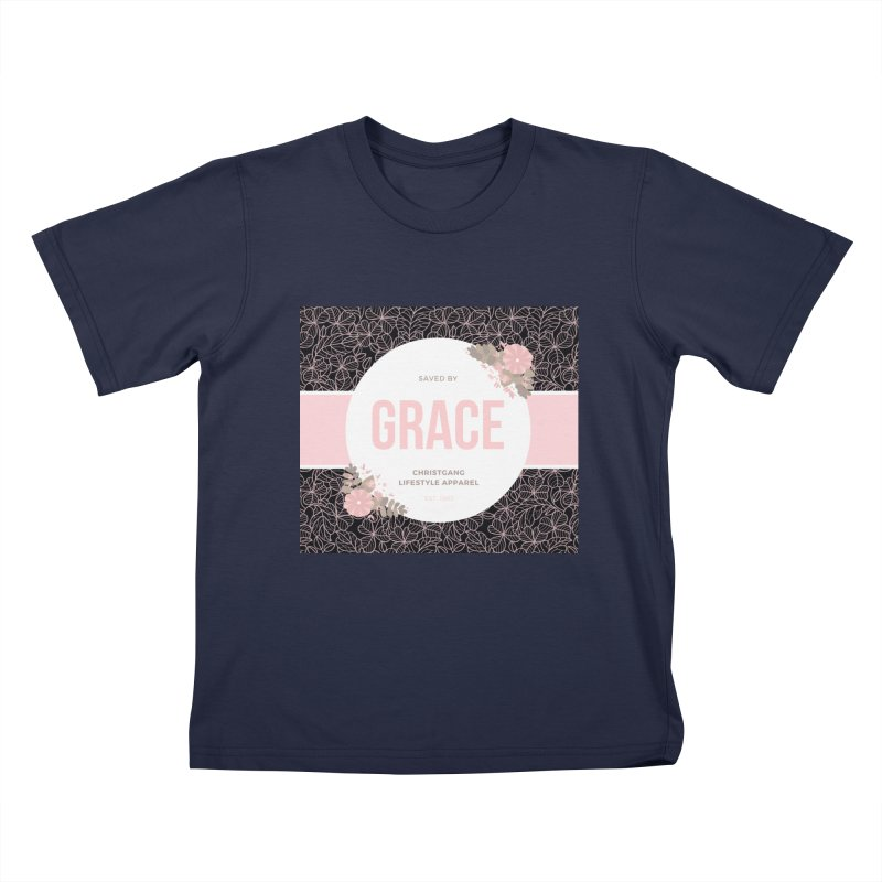 Saved By Grace Kids T-Shirt by ChristGang Apparel