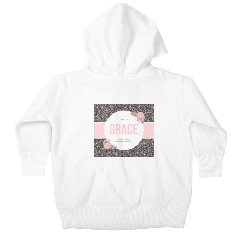 Saved By Grace Kids Baby Zip-Up Hoody by ChristGang Apparel