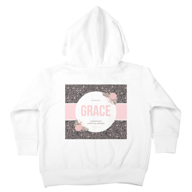 Saved By Grace Kids Toddler Zip-Up Hoody by ChristGang Apparel