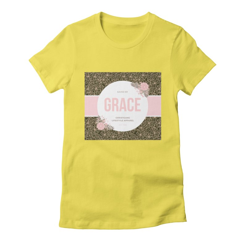Saved By Grace Women's Fitted T-Shirt by ChristGang Apparel