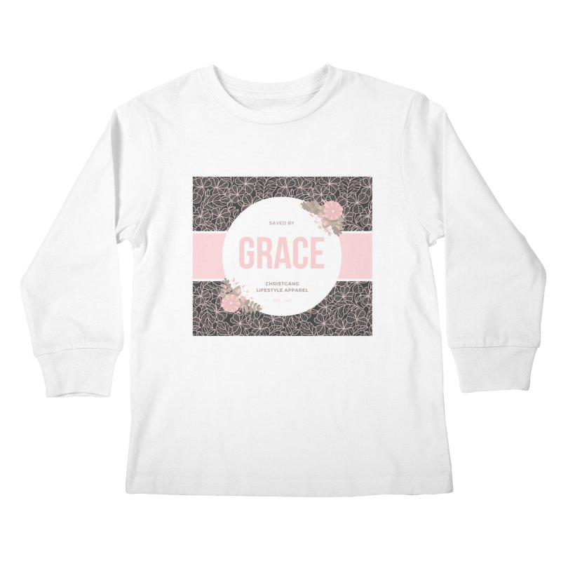 Saved By Grace Kids Longsleeve T-Shirt by ChristGang Apparel