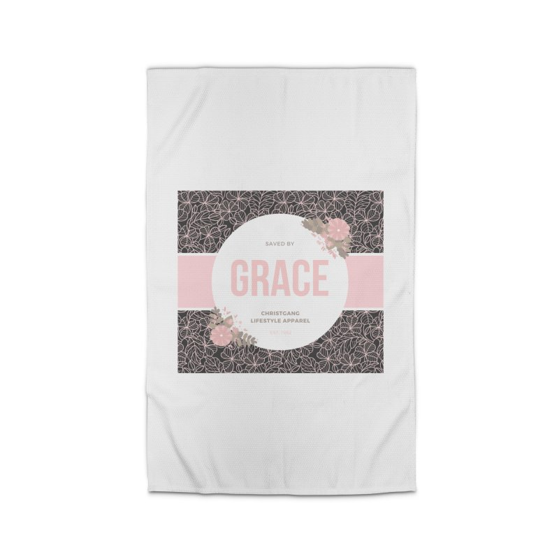 Saved By Grace Home Rug by ChristGang Apparel