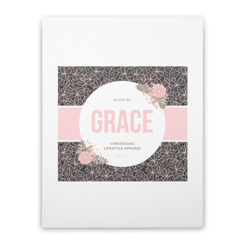 Saved By Grace Home Stretched Canvas by ChristGang Apparel