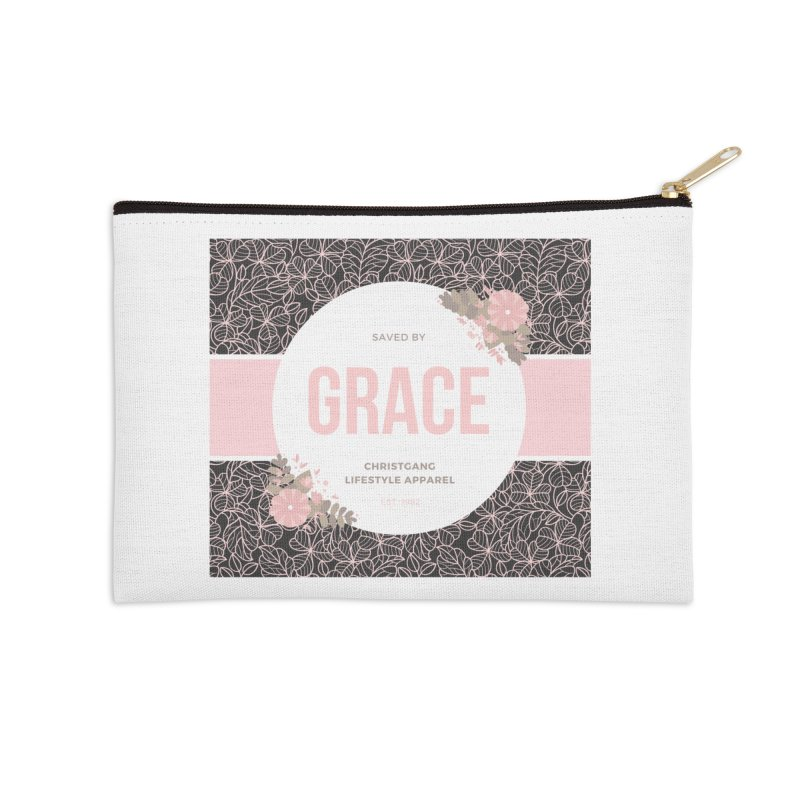 Saved By Grace Accessories Zip Pouch by ChristGang Apparel
