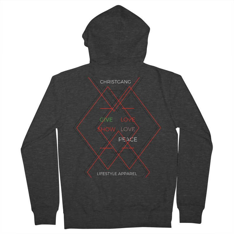 Give Love Show Love Women's French Terry Zip-Up Hoody by ChristGang Apparel