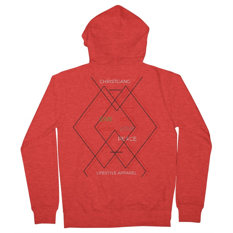 Give Love Show Love Men's Zip-Up Hoody by ChristGang Apparel