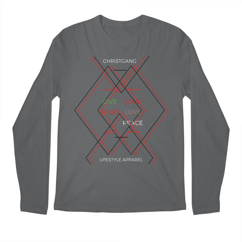 Give Love Show Love Men's Longsleeve T-Shirt by ChristGang Apparel