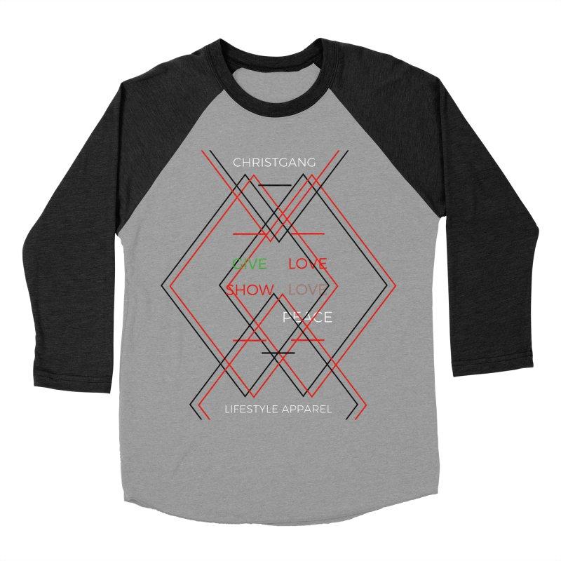 Give Love Show Love Women's Baseball Triblend Longsleeve T-Shirt by ChristGang Apparel