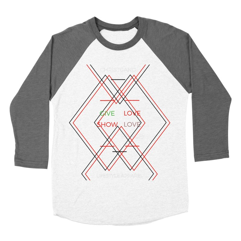 Give Love Show Love Men's Baseball Triblend Longsleeve T-Shirt by ChristGang Apparel