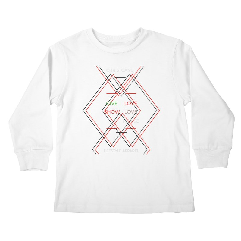 Give Love Show Love Kids Longsleeve T-Shirt by ChristGang Apparel