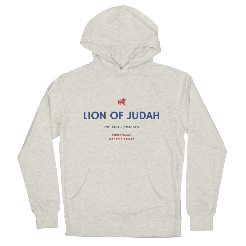 Lion Of Judah Women's French Terry Pullover Hoody by ChristGang Apparel