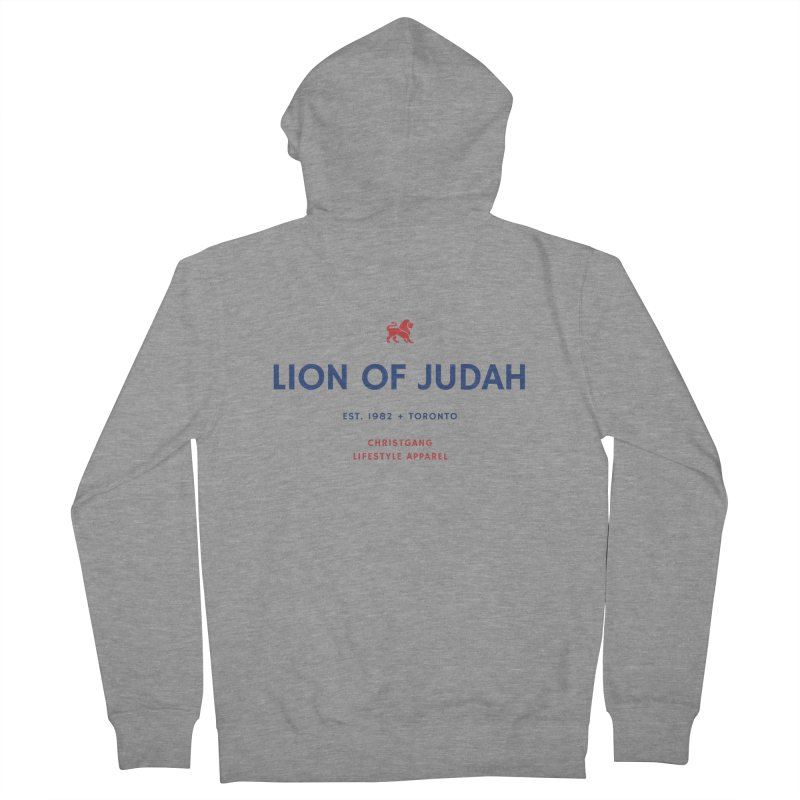 Lion Of Judah Men's French Terry Zip-Up Hoody by ChristGang Apparel