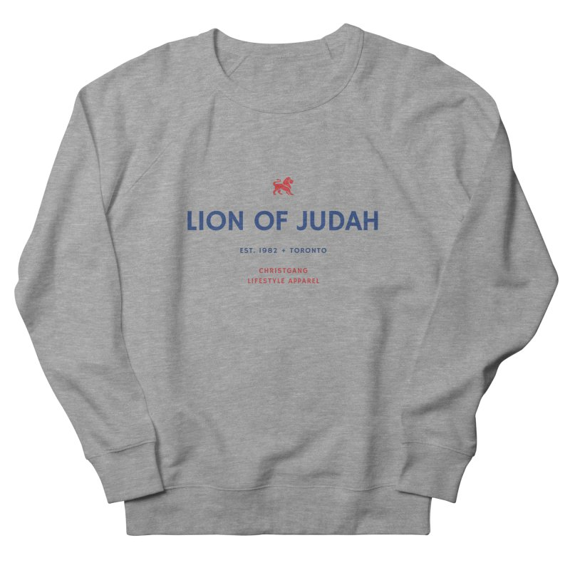 Lion Of Judah Men's French Terry Sweatshirt by ChristGang Apparel