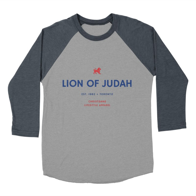 Lion Of Judah Men's Baseball Triblend Longsleeve T-Shirt by ChristGang Apparel