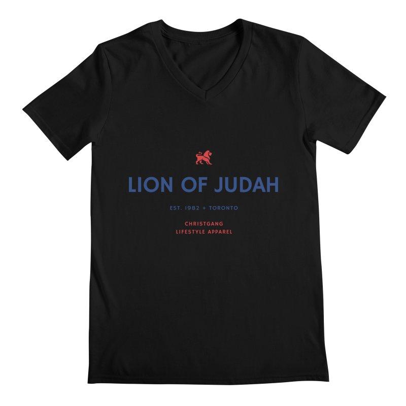 Lion Of Judah Men's Regular V-Neck by ChristGang Apparel