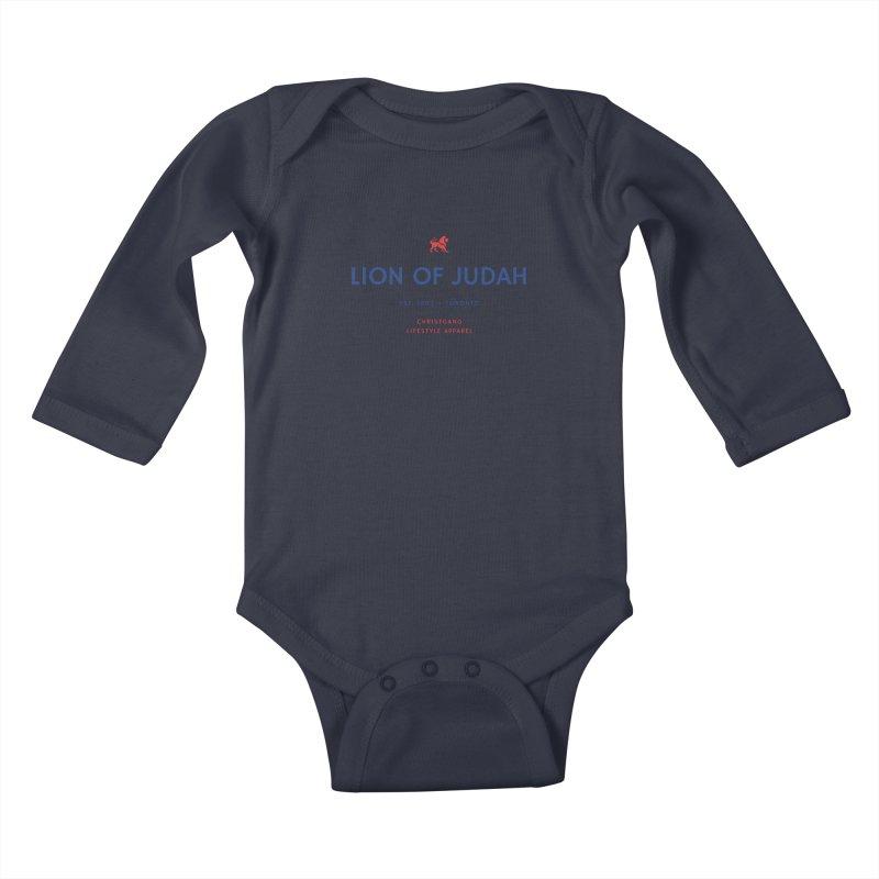 Lion Of Judah Kids Baby Longsleeve Bodysuit by ChristGang Apparel