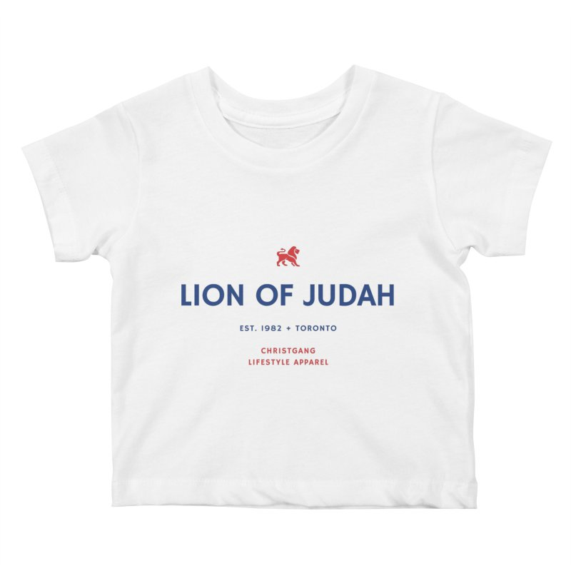 Lion Of Judah Kids Baby T-Shirt by ChristGang Apparel