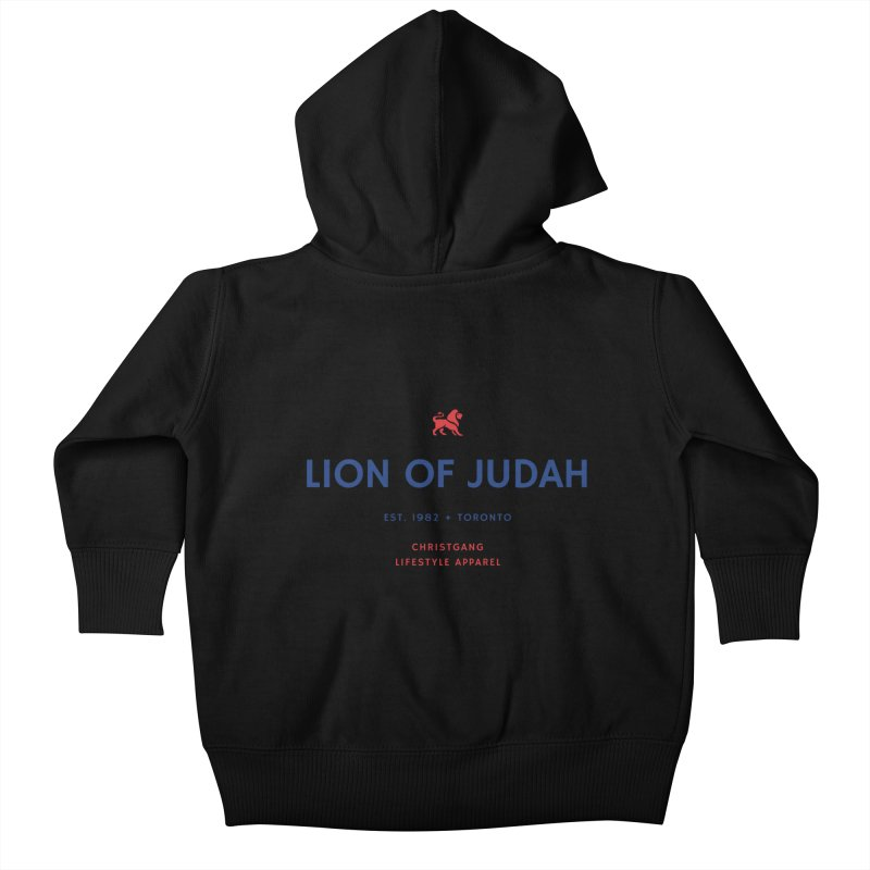 Lion Of Judah Kids Baby Zip-Up Hoody by ChristGang Apparel