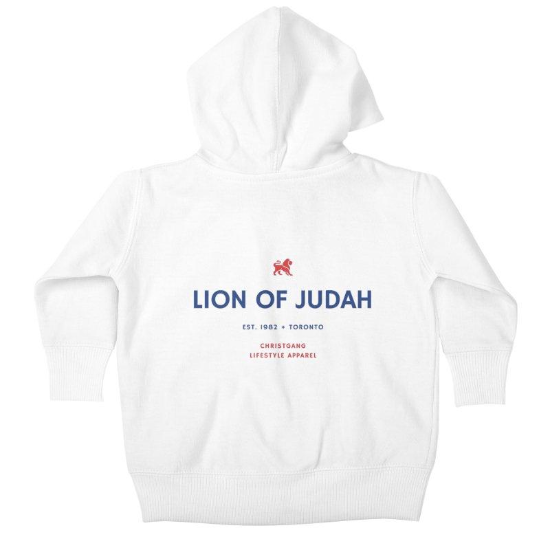 Lion Of Judah Kids Baby Zip-Up Hoody by ChristGang Apparel