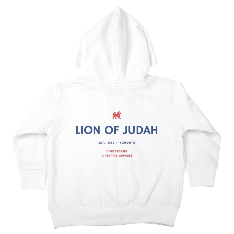Lion Of Judah Kids Toddler Zip-Up Hoody by ChristGang Apparel