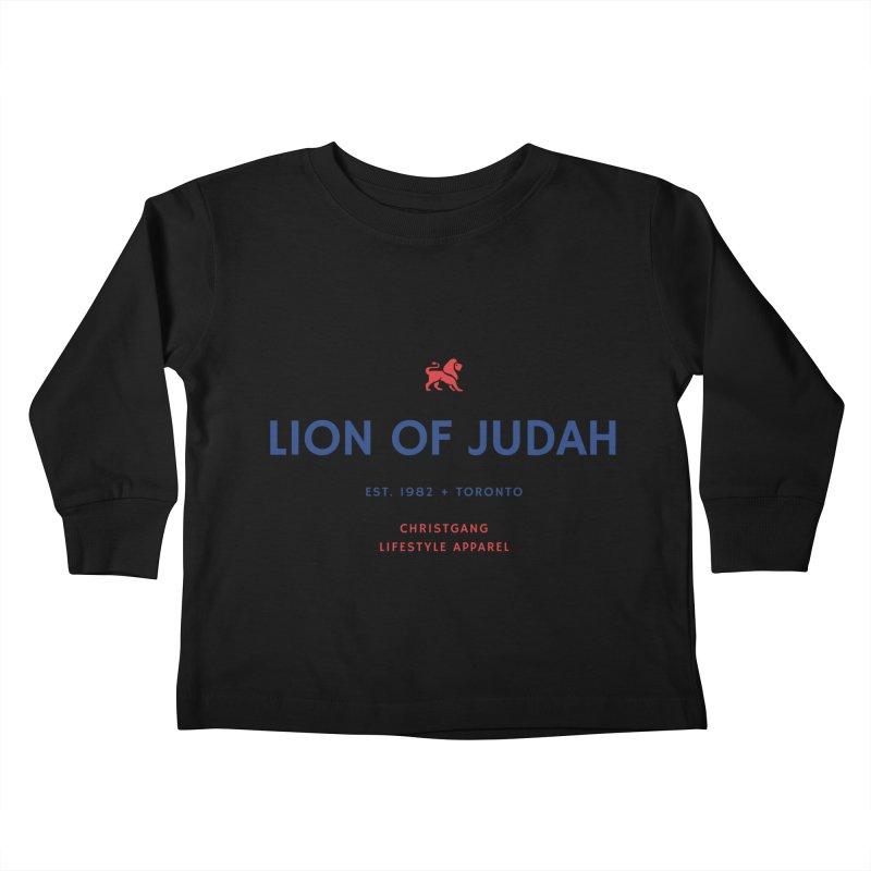 Lion Of Judah Kids Toddler Longsleeve T-Shirt by ChristGang Apparel