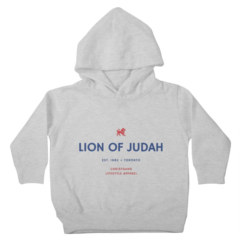 Lion Of Judah Kids Toddler Pullover Hoody by ChristGang Apparel
