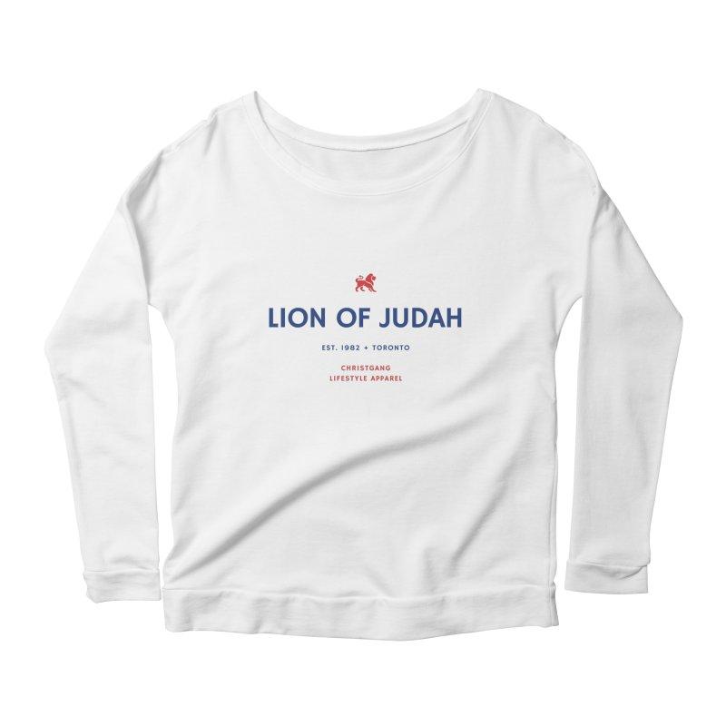 Lion Of Judah Women's Scoop Neck Longsleeve T-Shirt by ChristGang Apparel