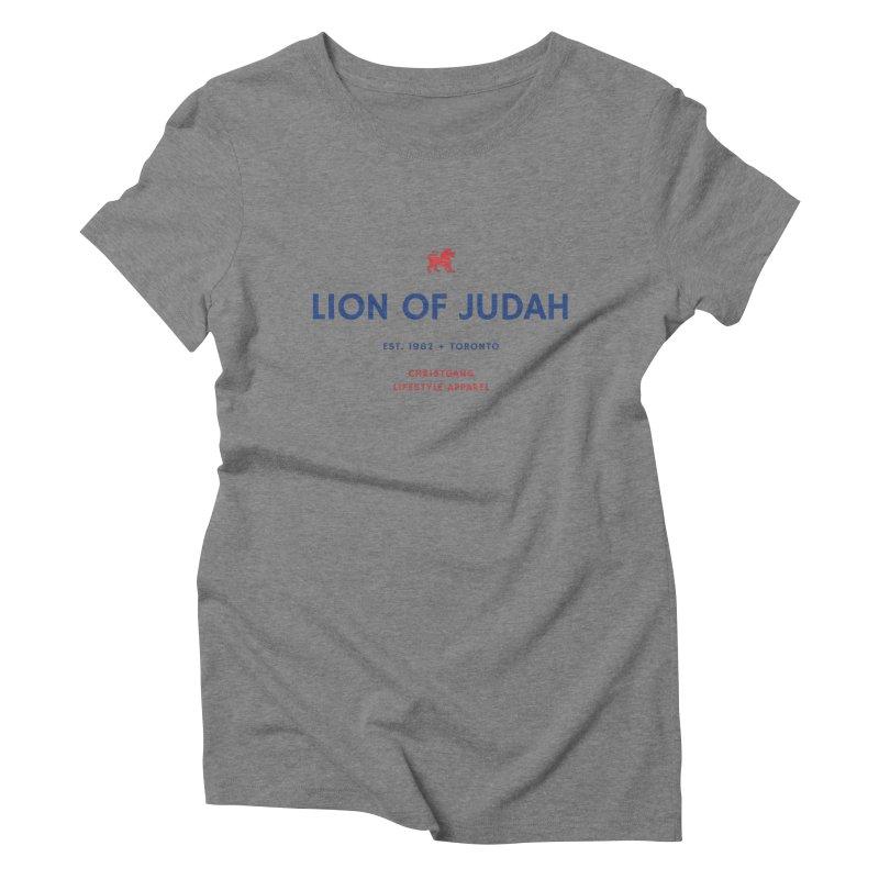 Lion Of Judah Women's Triblend T-Shirt by ChristGang Apparel